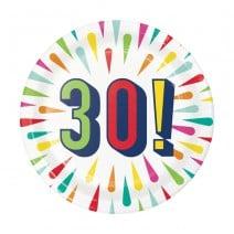 צלחות קטנות Birthday Burst - 30