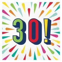 מפיות גדולות Birthday Burst - 30