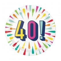 צלחות קטנות Birthday Burst - 40