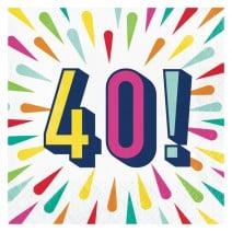 מפיות גדולות Birthday Burst - 40