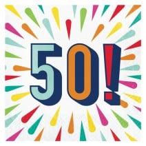 מפיות גדולות Birthday Burst - 50