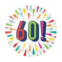 צלחות קטנות Birthday Burst - 60