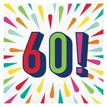 מפיות גדולות Birthday Burst - 60