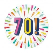 צלחות קטנות Birthday Burst - 70