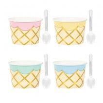 כוסות ממתקים מסיבת גלידה
