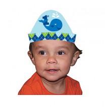 כובעי נייר מתחת למים כחולים