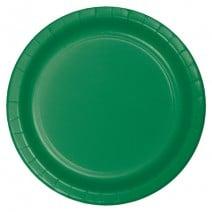 """24 צלחות נייר """"9 - ירוק דשא"""