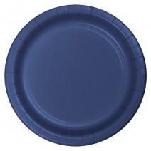 """24 צלחות נייר """"9 - כחול נייבי"""