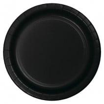 """24 צלחות נייר """"9 - שחור"""
