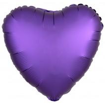 בלון כרום לב סגול