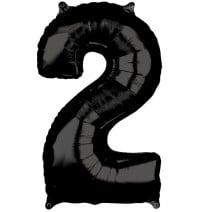 בלון מיילר שחור - מספר 2