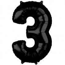 בלון מיילר שחור - מספר 3