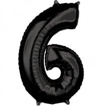 בלון מיילר שחור - מספר 6