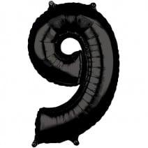 בלון מיילר שחור - מספר 9