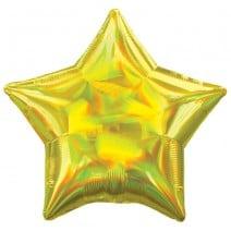 בלון מיילר כוכב ססגוני צהוב