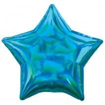 בלון מיילר כוכב ססגוני כחול