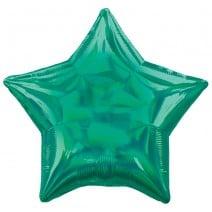 בלון מיילר כוכב ססגוני ירוק