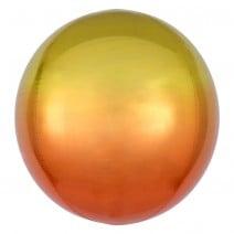 בלון בועה צהוב וכתום אומברה