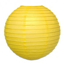 """אהיל נייר 30 ס""""מ - צהוב"""