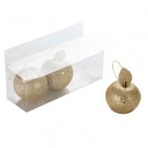 שלישיית תפוחים גליטר זהב