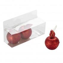 שלישיית תפוחים גליטר אדום