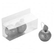שלישיית תפוחים גליטר כסף