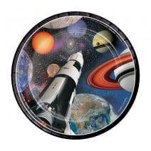 צלחות קטנות אבודים בחלל