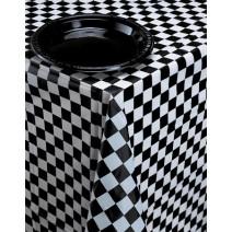 מפת שולחן משבצות שחור לבן