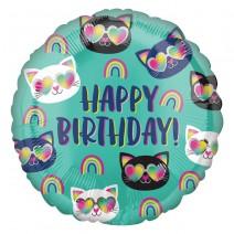 בלון מיילר חתלתולים Happy Birthday