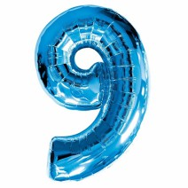 בלון מיילר כחול - מספר 9