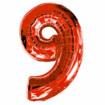 בלון מיילר אדום - מספר 9