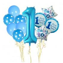 סט בלונים גיל שנה כחול