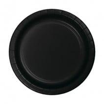 """24 צלחות נייר """"7 - שחור"""
