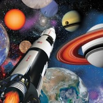 מפיות גדולות אבודים בחלל
