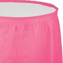 חצאית שולחן - ורוד בזוקה