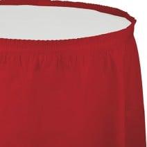 חצאית שולחן - אדום קלאסי