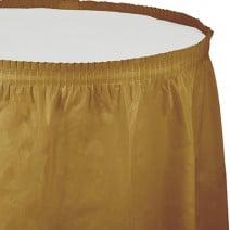 חצאית שולחן - זהב