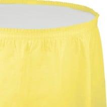 חצאית שולחן - צהוב לימון