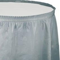 חצאית שולחן - כסף