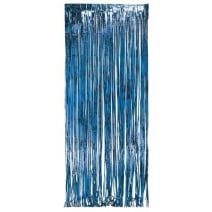 וילון פרנזים לדלת - כחול