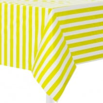 מפת שולחן צהוב פסים