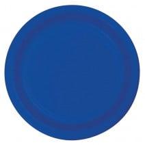 """צלחות נייר """"9 - כחול"""