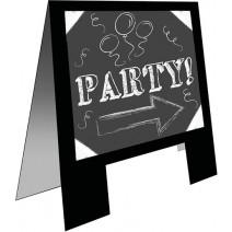 שלט מסיבה לוח גיר