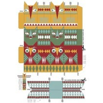 עמוד טוטם ליצירה - חינמי להדפסה