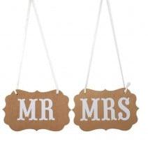 שלטים Mr ו- Mrs קראפט