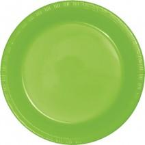 """25 צלחות פלסטיק """"10 - ירוק ליים"""