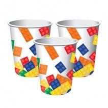 כוסות מסיבת לגו