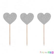 טופרים לבבות כסופים