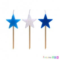 נרות כוכבים - כחול