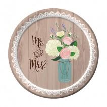 צלחות קטנות Rustic Wedding